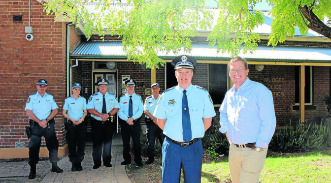 Police Minister Troy Grant Visits Mudgee