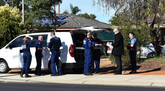 WA Police Major Crime and Forensic Officers Investigate Possible Eaton Homicide