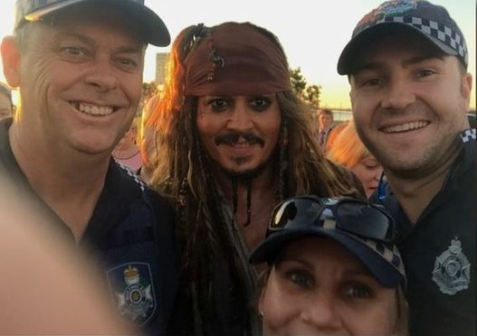 Arrr! Johnny Depp Caught By Queensland Water Police