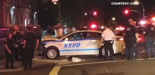 Five NYPD Officers Hurt In Police Car Crash