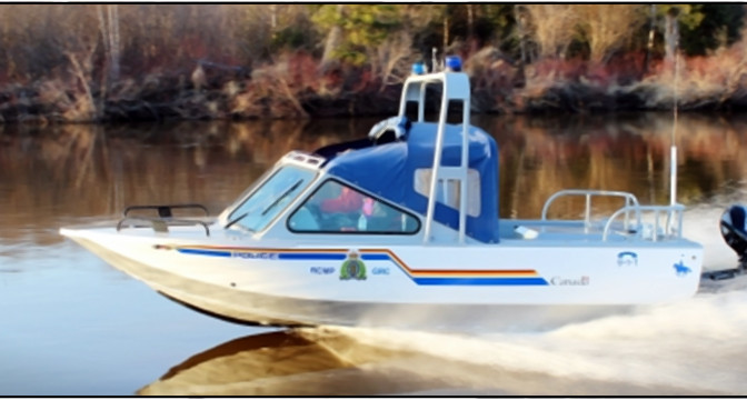 RCMP Jet Boat Capsizes, Officers Make It Safely To Shore
