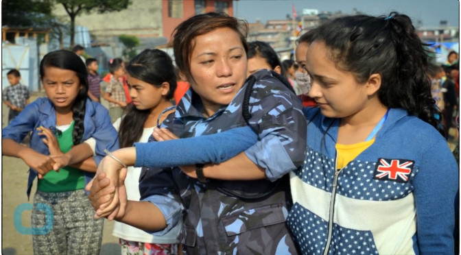 Nepalese Police Train Females To Fight After Rise In Sex Crime Reports In Earthquake Camps