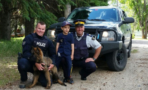 RCMP Service Dog Visits 5-year-old Manitoba Boy Who Named Him