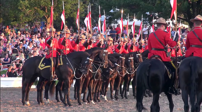 Canadian Sunset Ceremonies In Ottawa