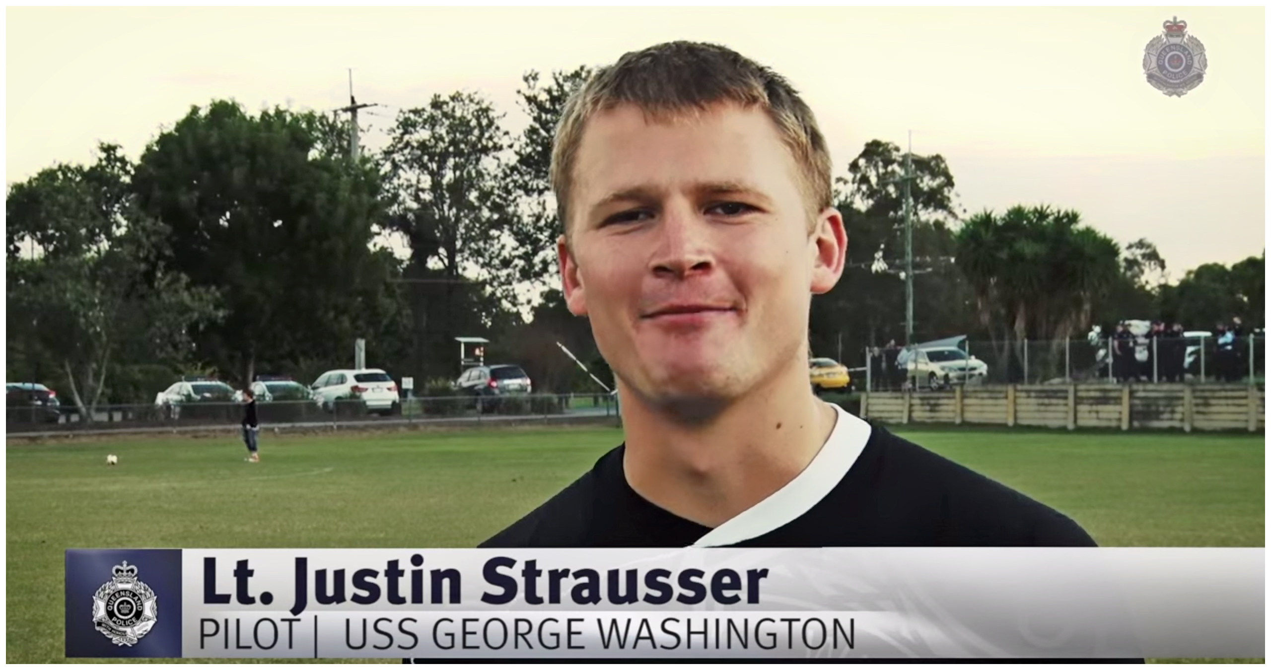 US Navy Pilot Justin Strausser from USS George Washington