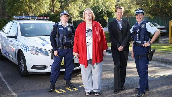Women In NSW Police Mark 100 Years With a Baton Relay To Castle Hill