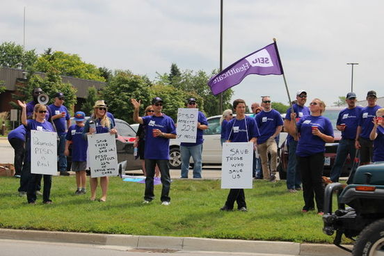Ontario Paramedics Protest For Better PTSD Support