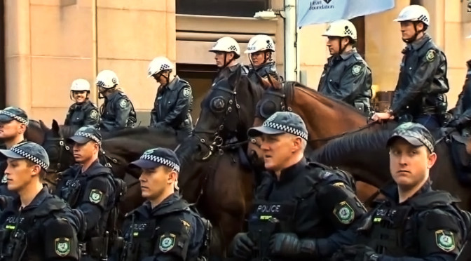 Police Officer Assaulted As Protesters Descended On Martin Place In Sydney