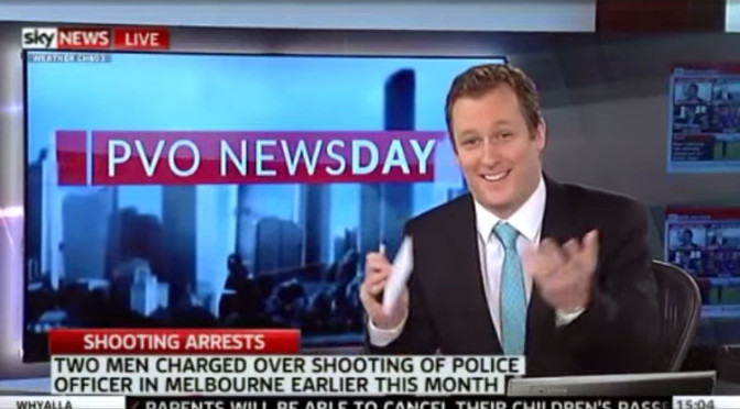 Sky News Journalist Laughs At Victoria Police Officer's Shooting