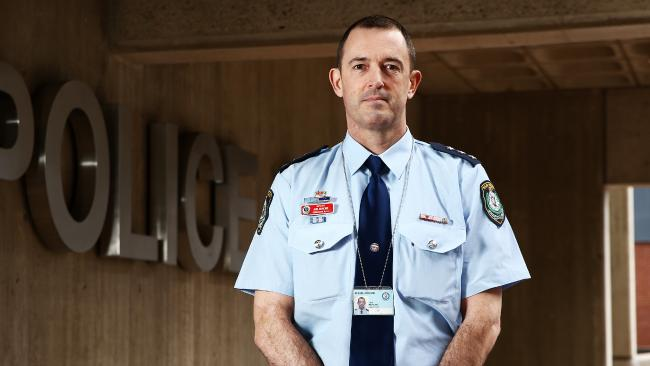 NSW Police Force Mental Health Intervention Team Commander Joel Murchie who leads the force's experts with regards to mental health and suicide prevention. Picture: Tim Hunter.