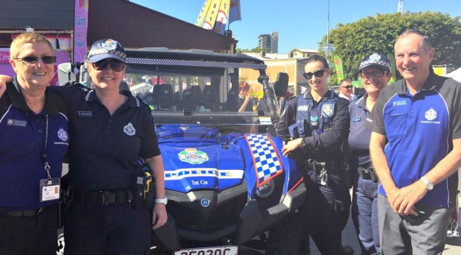 Queensland Police Cop a Cuddle At the Ekka