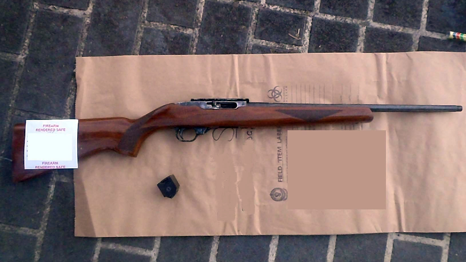 Ruger .22 rifle with 1000 rounds of ammo were seized