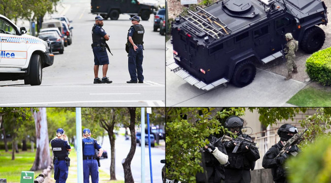 Queensland Police Swarm Southport Street During Siege