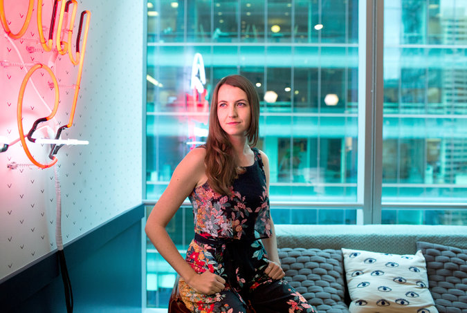 Jessica Ladd, founder and chief executive of Sexual Health Innovations, whose Callisto service lets college students anonymously record details of sexual assaults and report them later. She came up with the idea after she was assaulted as an undergraduate.