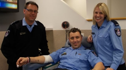 Victoria Police Lead Christmas Blood Drive