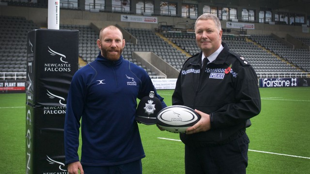 Newcastle Falcons Rob Hawkins Joins the Ranks As Special Constable