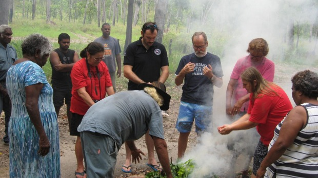 Police Inducted Into Queensland Indigenous Clan With Smoking Ceremony