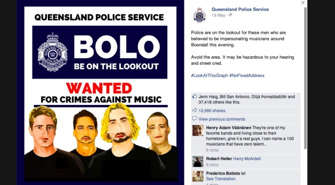 Ceasefire Between Queensland Police and Nickelback Now In Effect