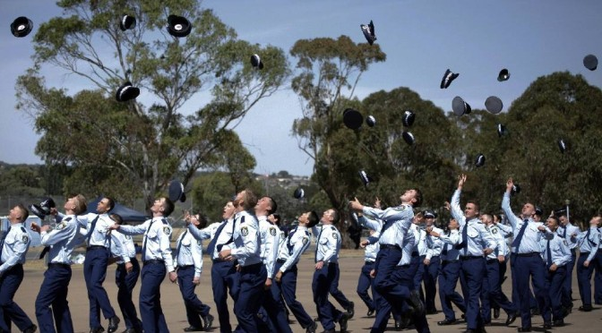 "New South Wales Police Force ""Class 326"" Graduates – 105 New Recruits Ready For Duty"