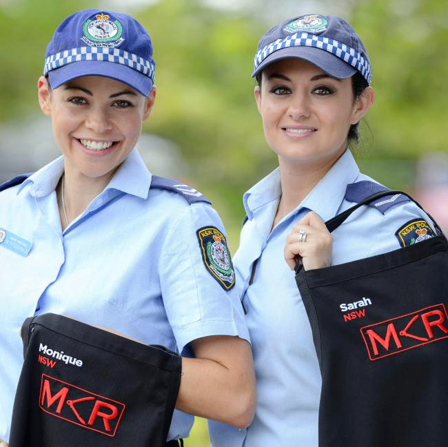 Reporting for duty ... Monique Fitzgerald and Sarah Moore are a big threat in the MKR competition.