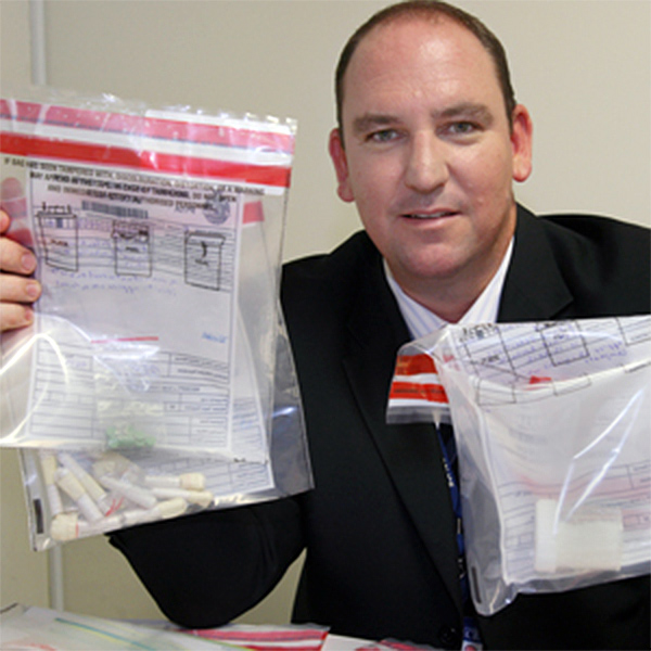 Sergeant Mark McKenzie: shown here with $1 million drug bust