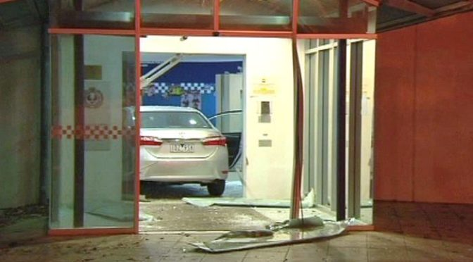 Man Detained After Crashing Car Into Adelaide's Sturt Police Station